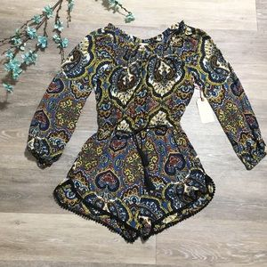 NWT Band Of Gypsies Off The Shoulder Romper Shorts